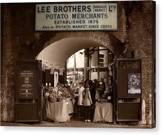 Borough Market Canvas Print by Stephen Norris
