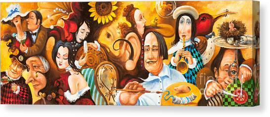 Bosch's Jingles Dali's Moustache And Ear Of Vangough Make Me Restless Canvas Print