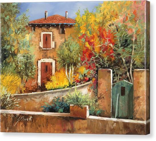 Villages Canvas Print - Bosco Giallo by Guido Borelli
