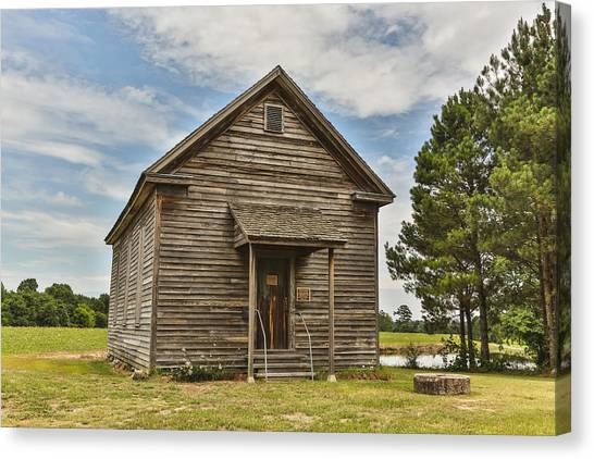Bostick School House Canvas Print