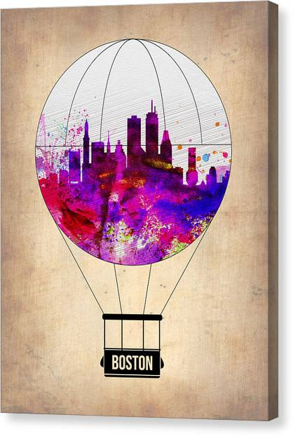 Boston Canvas Print - Boston Air Balloon by Naxart Studio