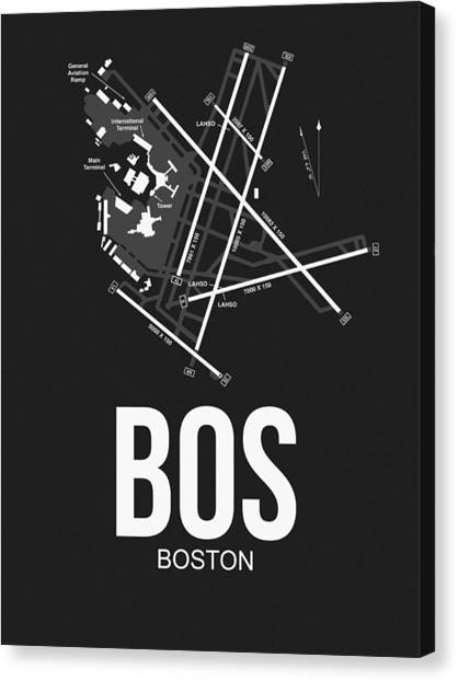 Boston Canvas Print - Boston Airport Poster 1 by Naxart Studio