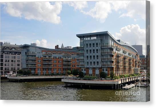 Boston Apartments Canvas Print