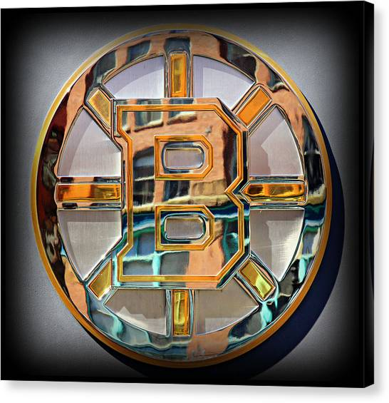 Hockey Players Canvas Print - Boston Bruins by Stephen Stookey