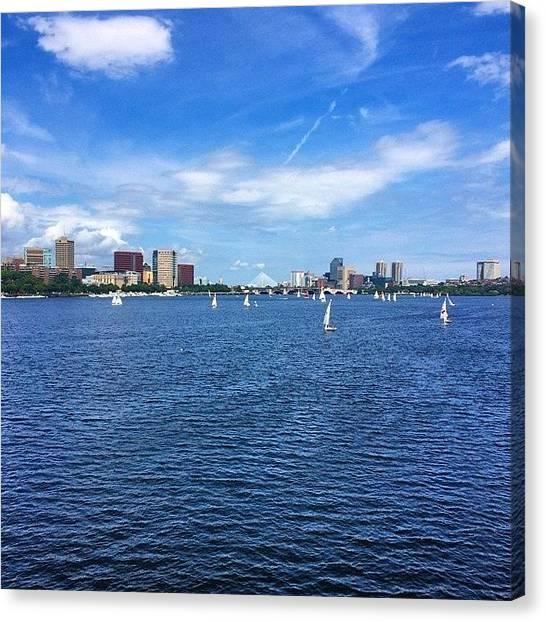 Harvard University Canvas Print - #boston #cambridge #harvard #water by Shawn Hope