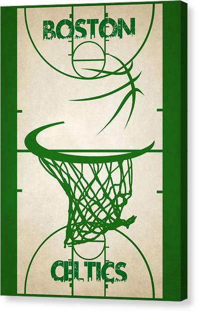 Boston Celtics Canvas Print - Boston Celtics Court by Joe Hamilton