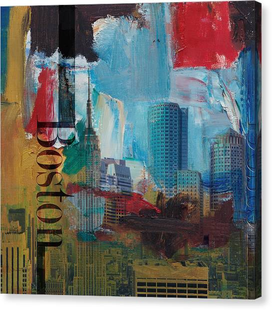 Boston City Collage 3 Canvas Print