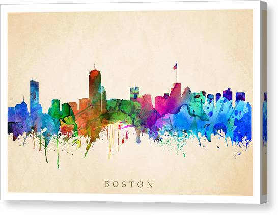 Boston Cityscape Canvas Print