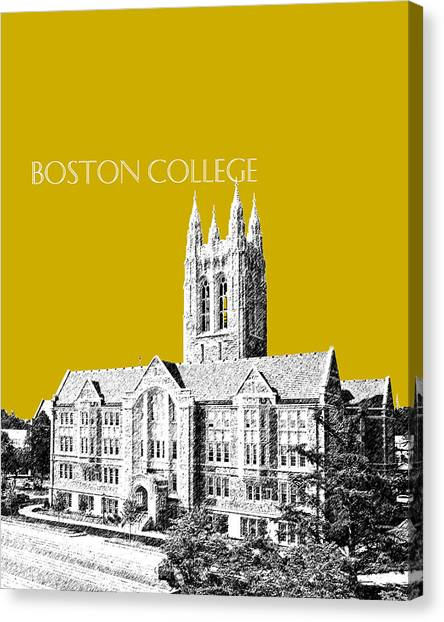 Boston College Canvas Print - Boston College - Gold by DB Artist
