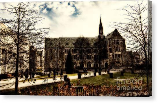 Boston College Canvas Print - Boston College by Douglas Barnard