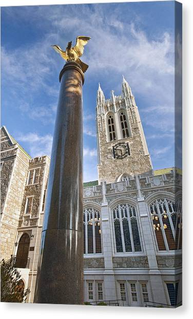 Renovation Canvas Print - Boston College Gasson Hall by Replay Photos