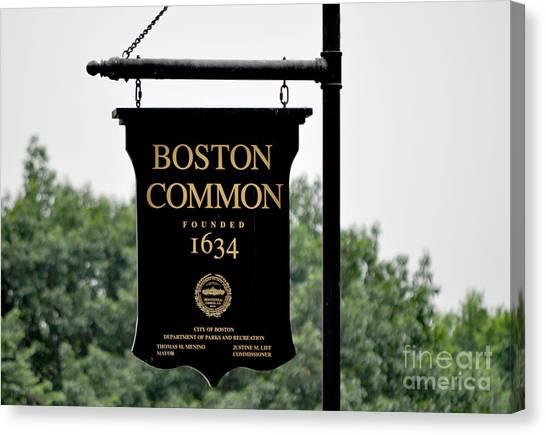 Boston Common Ma Canvas Print