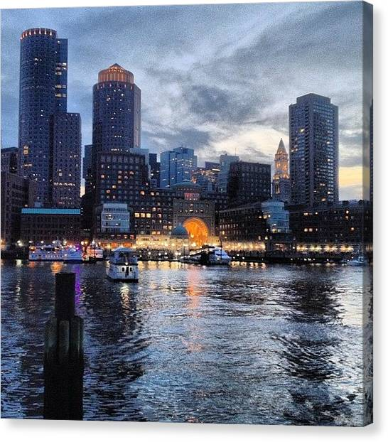 Massachusetts Canvas Print - #boston #fanpier #bostonharbor by Joann Vitali