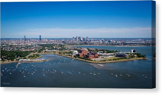 Boston College Canvas Print - Boston From 500 Feet by Paul Treseler