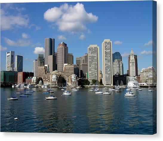 Boston Habor Skyline Canvas Print