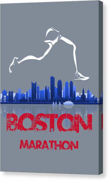 Athens Canvas Print - Boston Marathon3 by Joe Hamilton