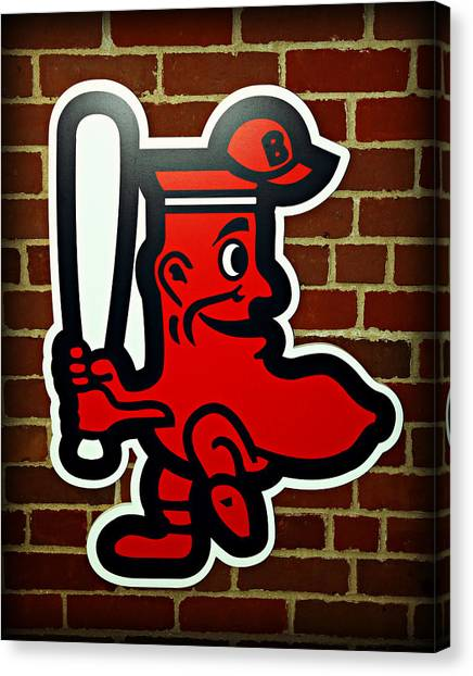 Fenway Canvas Print - Boston Red Sox 1950s Logo by Stephen Stookey