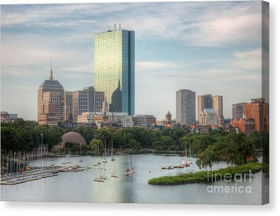 Hancock Building Canvas Print - Boston Skyline I by Clarence Holmes