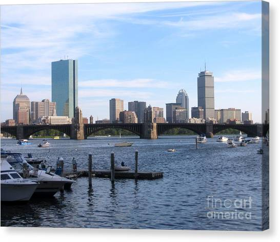 Boston Skyline Canvas Print by Jason Clinkscales