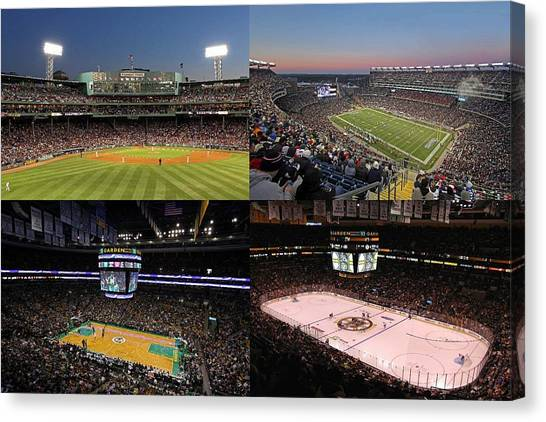 Boston Sport Teams And Fans Canvas Print