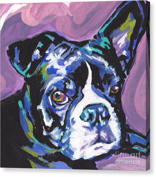Boston Terriers Canvas Print - Boston Strong by Lea S