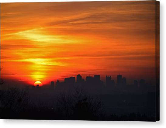 Boston Sunrise Canvas Print