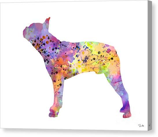 Boston Terriers Canvas Print - Boston Terrier 5 by Watercolor Girl