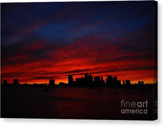 Boston Twilight Canvas Print