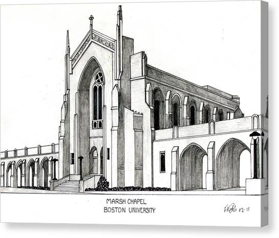 Boston University Marsh Chapel Canvas Print