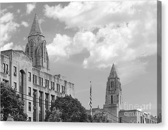 Boston College Canvas Print - Boston University Towers by University Icons