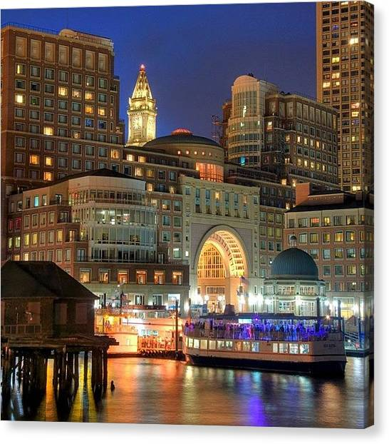 Massachusetts Canvas Print - Boston Waterfront Skyline From Fan by Joann Vitali