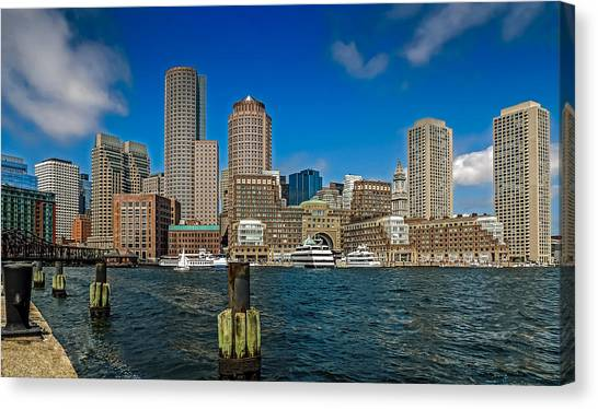 Boston Waterfront Skyline Canvas Print
