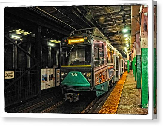 Boston's Mbta Green Line Canvas Print