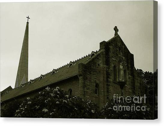 Botanical Gardens Cathedral Canvas Print by Cheryl Boutwell