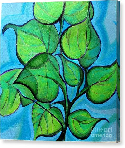 Botanical Leaves Canvas Print