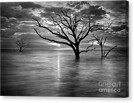 Botany Bay Sunrise 6 Black And White Canvas Print