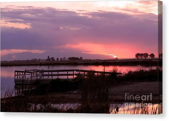 Canvas Print - Botkers Lake At Sunset by Lori Tordsen