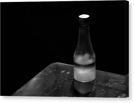 Bottle And Corner Canvas Print by Guillermo Hakim