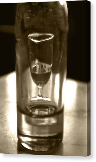 Bottle And Glass0023 Canvas Print