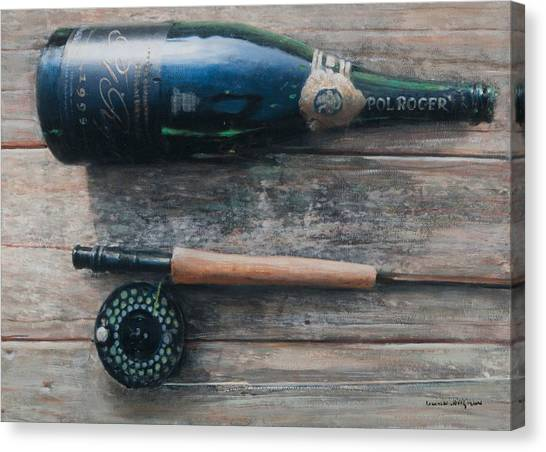 Cellar Canvas Print - Bottle And Rod I by Lincoln Seligman