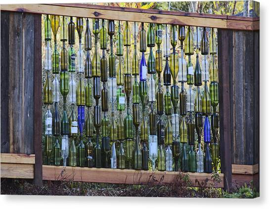 Bottle Fence Canvas Print