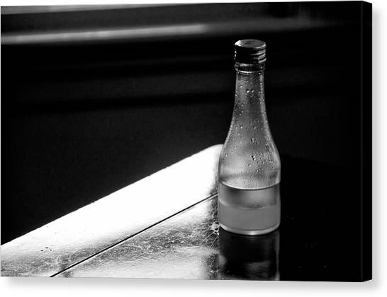 Bottle Near Window Canvas Print by Guillermo Hakim