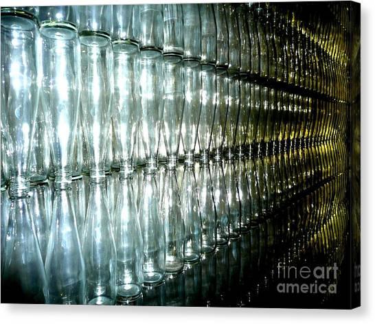 Bottle Wall Canvas Print by Sara Graham