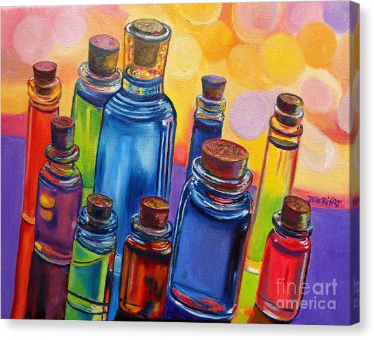 Bottled Rainbow Canvas Print