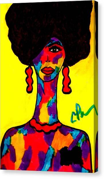 Bottlenecked Diva Canvas Print