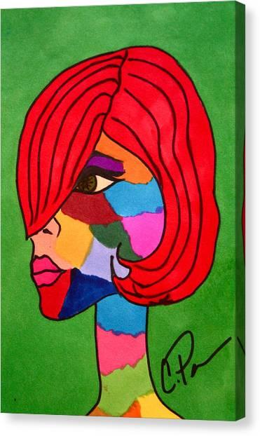 Bottlenecked Gretchen Canvas Print