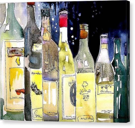 Bottles No 1 Canvas Print