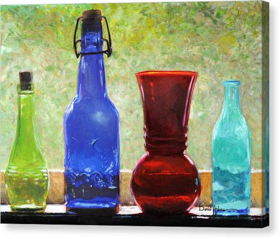 Da142 Bottles Of Time Daniel Adams Canvas Print