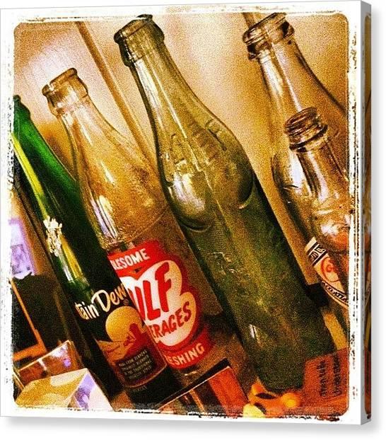 Soda Canvas Print - Bottles by Scott Pellegrin