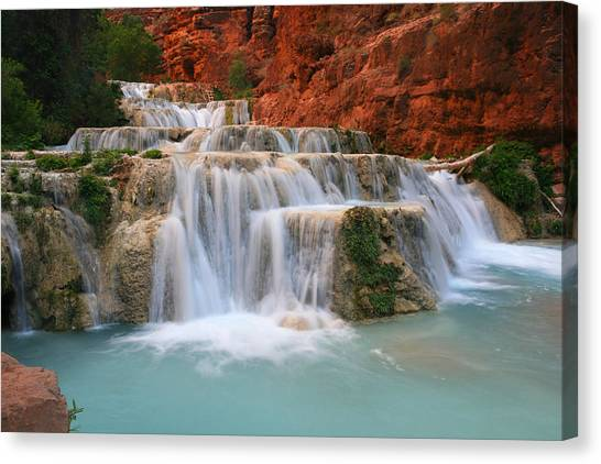Bottom View Of Beaver Falls  Canvas Print